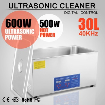 Digital Stainless Steel 30 L Ultrasonic Ultra Cleaner Bath Tank Timer & Heater