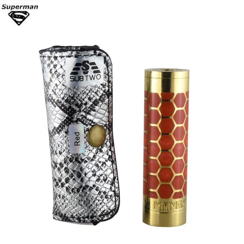 SOUS DEUX D'origine Mamba Mécanique Mod Fit 18650 Batterie Électronique Ecigarette Atomiseur 510 Fil Vaping Atomiseur Pour RDA Vaper