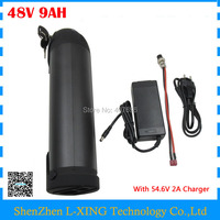 Free customs duty electric bicycle battery 48V 9AH lithium ebike battery 48 V 9AH bottle battery for e bike 15A BMS 2A Charger