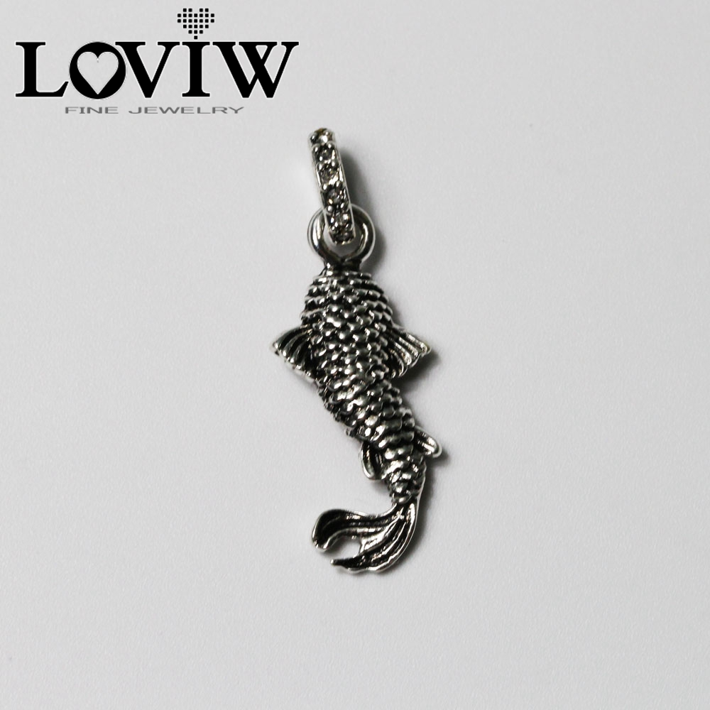 products sterling bikerringshop pendant koi fish japanese silver