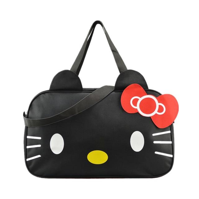 55c3930d0410 Women s Cute Hello Kitty Shoulder Messenger Bags Girl s Lovely Travel Large  Handbag Tote Bag Organizer Accessories