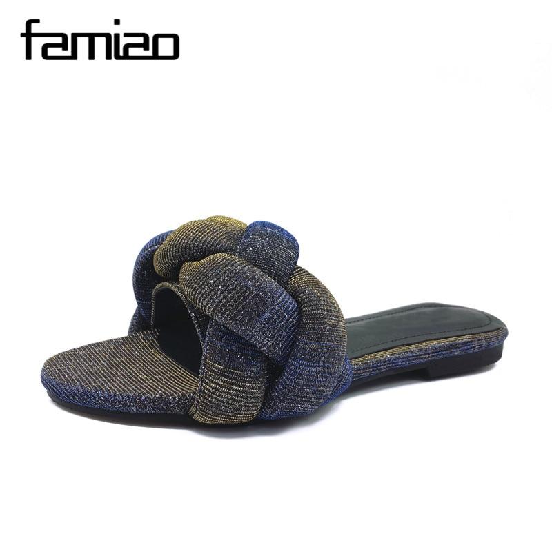 FAMIAO Frauen Pantoffel Sommer Sandalias Frauen Flip Flops 2018 Dias - Damenschuhe