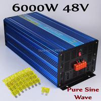 6000W Pure sine wave inverter 6000W Solar Wind Inverter 48V DC to 100V/110V/ 220V/230V/240V AC Peak power 12000W