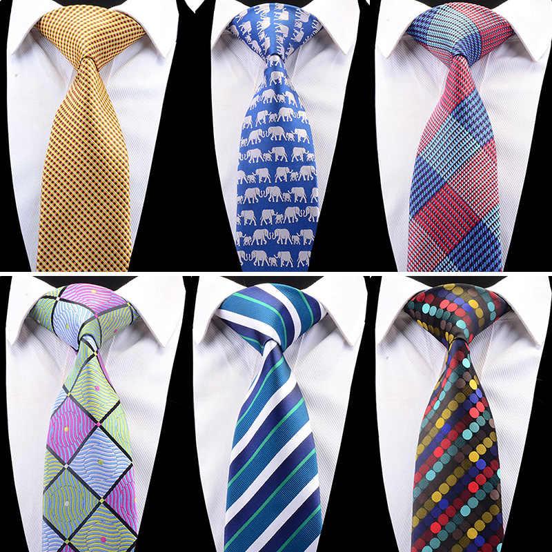New Classic Red Blue Mens Striped Skinny Neck Party wedding Tie Silk Necktie