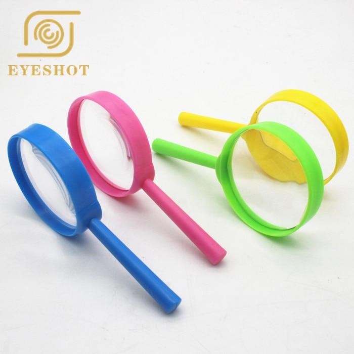 Yellow Handheld Magnifying Glass Children Students Outdoor Adventure Supply