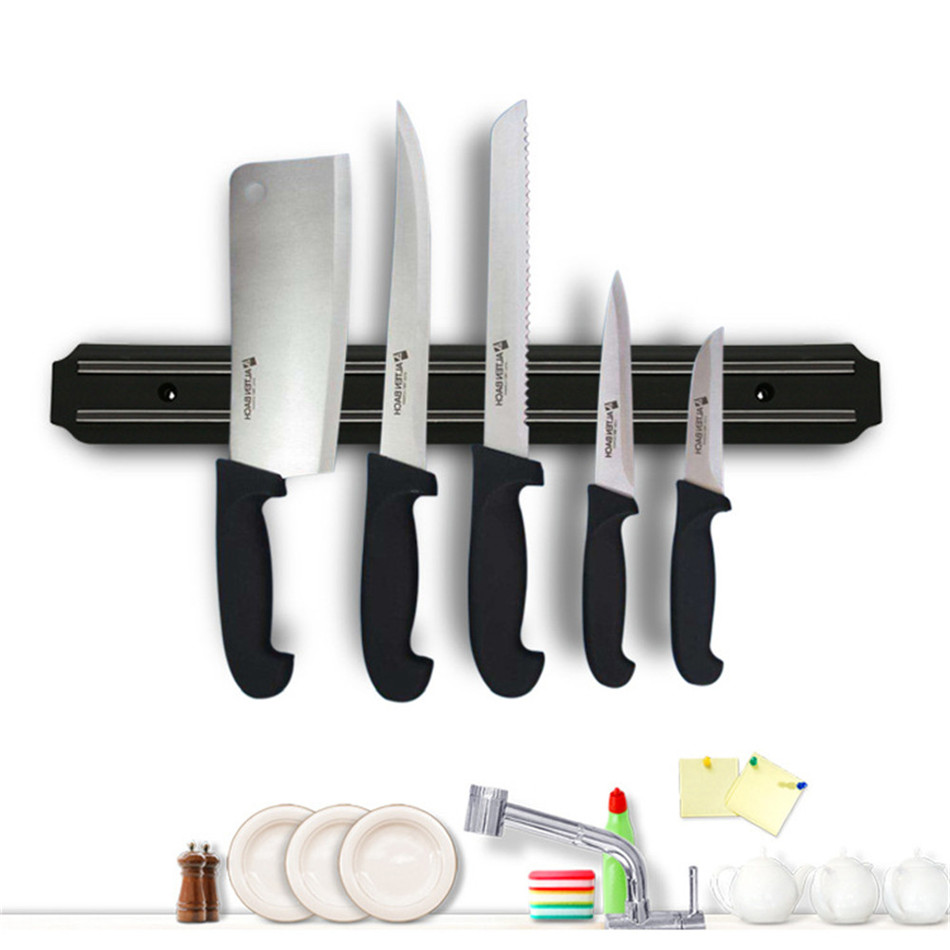 High Quality Powerful Wall-Mounted Magnetic Knife Holder Stainless Steel 304 Block Magnet Knife Holder Rack Stand For Knives
