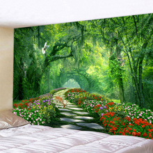 Beautiful Forest Trail Decor Psychedelic Tapestry Wall Hanging Indian Mandala Tapestry Hippie Tapestry Boho Wall Cloth forest stream sunlight waterproof wall hanging tapestry