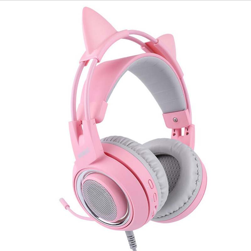 2dd67906a3b SOMIC G951 USB Gaming Headset 7.1 Virtual Surround Sound Headphone Cat Ear  Headsets With Microphone For Computer PC for Women-in Headphone/Headset  from ...