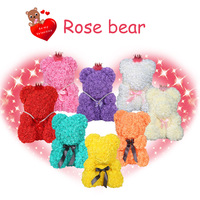 25/40cm Valentine's Romantice Artificial Rose Bear Rose Gift For Wedding Party Creative DIY Valentine Gift PE Rose Doll