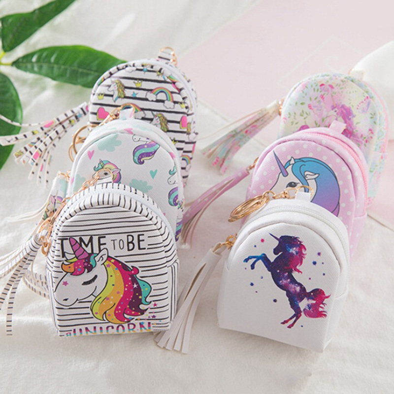 Cartoon Horse Coin Purses Women Wallets Small Cute Kawaii Card Holder Key Money Bags For Girls Ladies Purse Kids Children Bulk cute cats coin purse pu leather money bags pouch for women girls mini cheap coin pocket small card holder case wallets