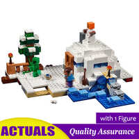 The Snow Hideout Compatible legoed 21120 My World Building Blocks Snow Golem Model Imagination Bricks