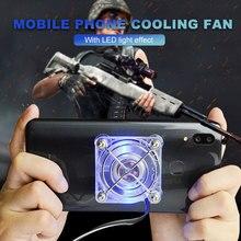 Вентиляторы охлаждения мобильного телефона портативный с присоской вентиляторы с светодиодный подсветкой 5 V 1A низкий уровень шума телефонный радиатор для игры