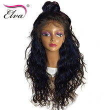 Elva Hair 180 Density Lace Front Human Hair Wigs For Black Women Natural Wave Brazilian Remy