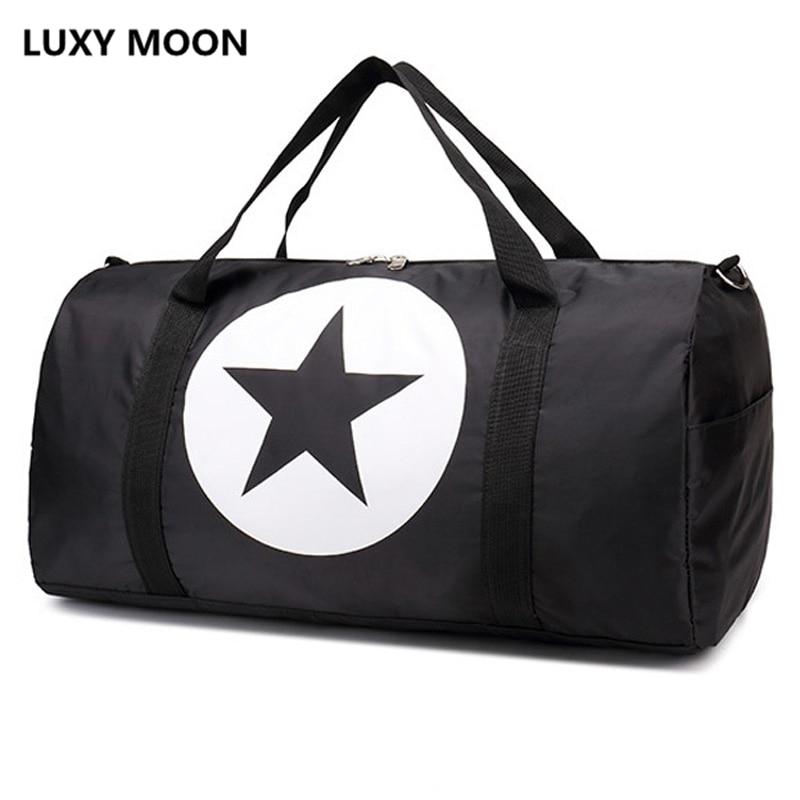 جديد أزياء نايلون للماء حقائب سفر كبيرة الحجم ستار sac دي رحلة النساء سفر حمل حقيبة واق الرجال malas الفقرة فياجيم