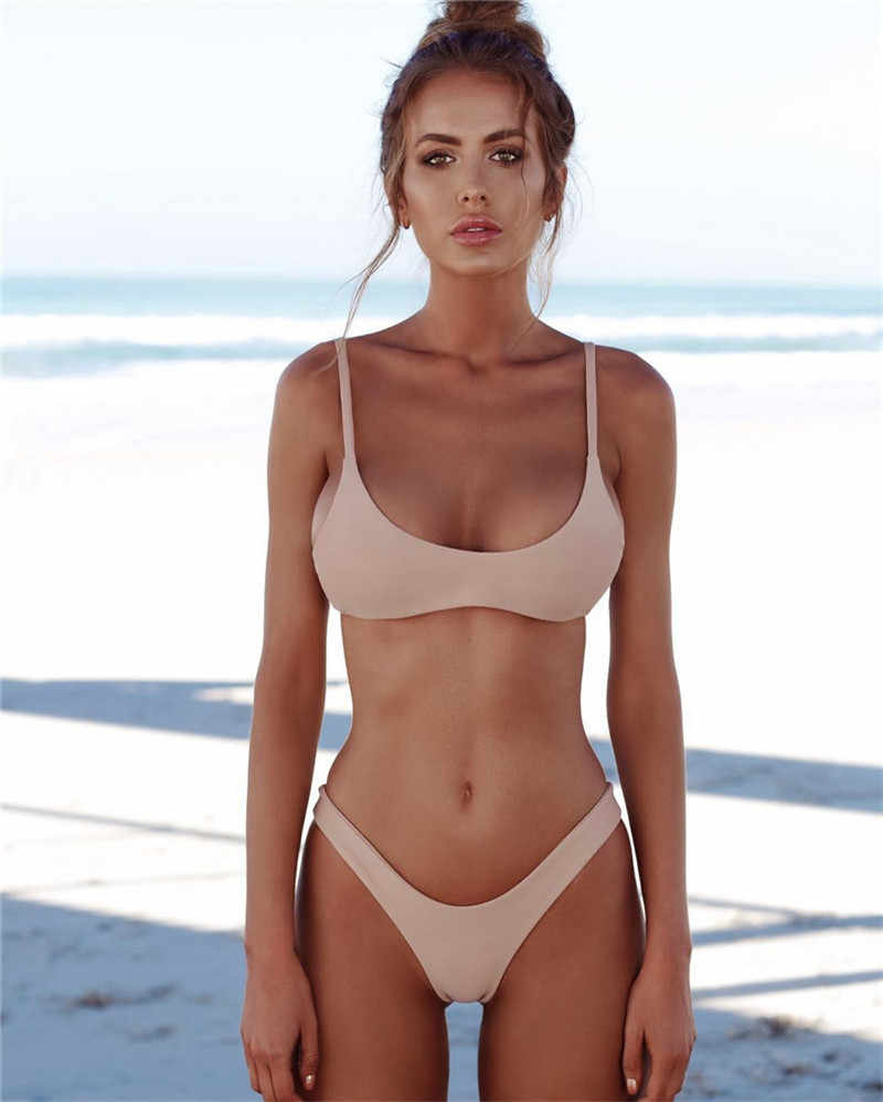 4947fcb95d 2018 New Sexy Off The Shoulder Solid Swimwear Women One Piece Swimsuit  Female Bathing Suit Ruffle