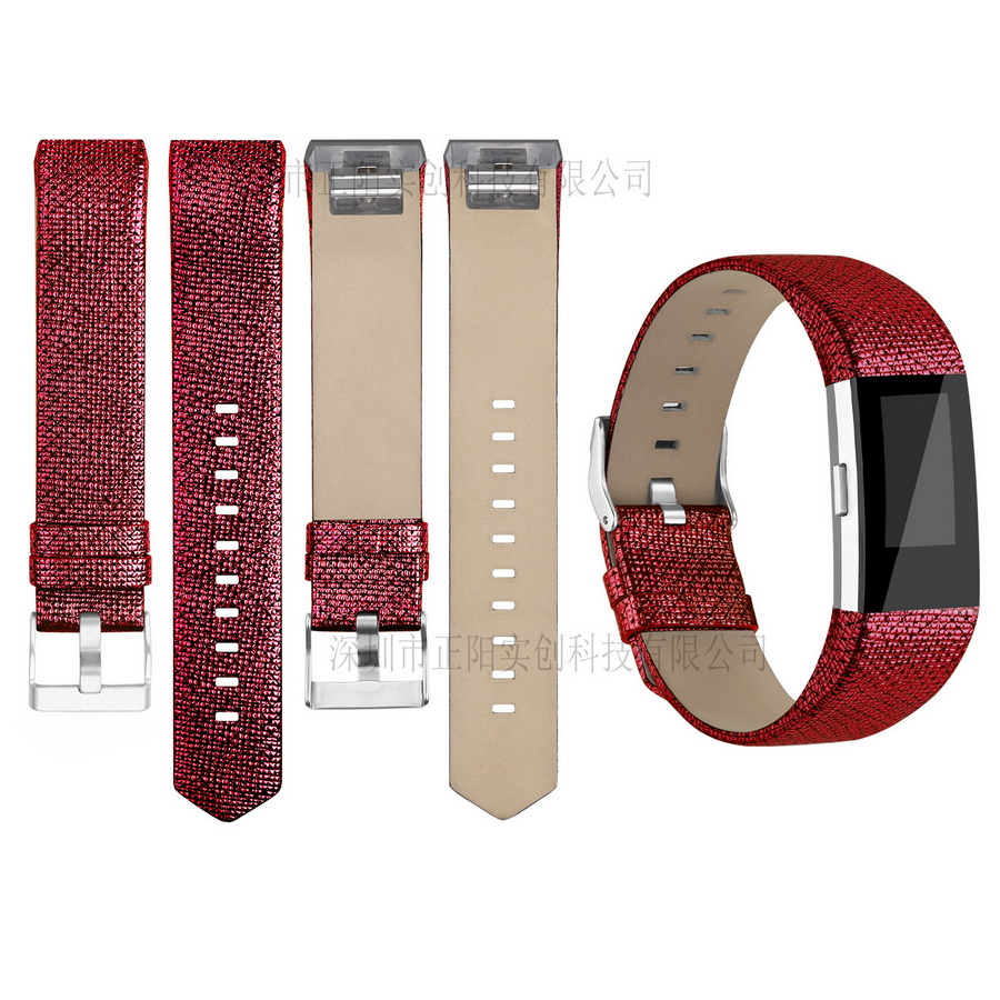 Strap Fitbit Charge Replace-Band Smart Bracelet 2-Heart-Rate-Wristband-Replacement Genuine-Leather