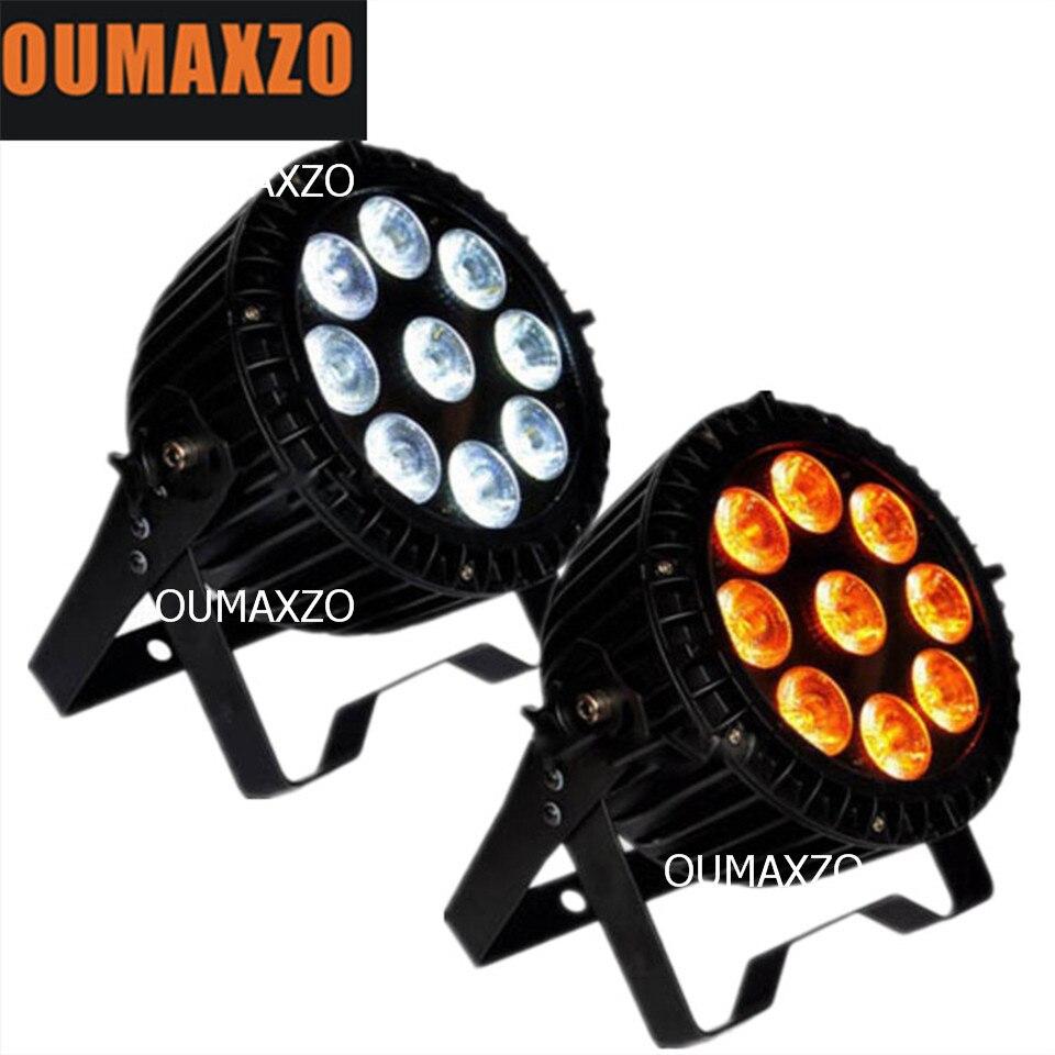 2pcs/lot outdoor led par 9pcs 18w rgbwa+uv 6in1 waterproof mini disco light Mini LEDs Waterproof Flat Par promotion dj disco