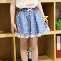 Vestidos menina Bow Print summer blue lace skirts ball gown tutu tulle girls skirt for 3 4 5 6 7 8 9 10 11 years girls clothes