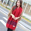 Hot 2017 New Autumn Winter Scarf Women Cotton Coarse lines Knitted Double-sided warm Fashion Scarves  XN104