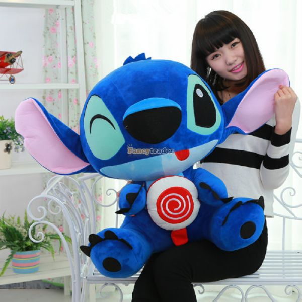 Fancytrader 26'' / 65cm Giant Stuffed Soft Plush Lovely Big Funny Stitch Toy, Cute Gift For Kids, Free Shipping FT50691 fancytrader 2015 new 31 80cm giant stuffed plush lavender purple hippo toy nice gift for kids free shipping ft50367