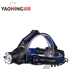 LED headlamp CREE XM-L T6 3 modes focus adjustable ultra bright led headlight outdoor lighting  by 2*18650 for hiking head lamp