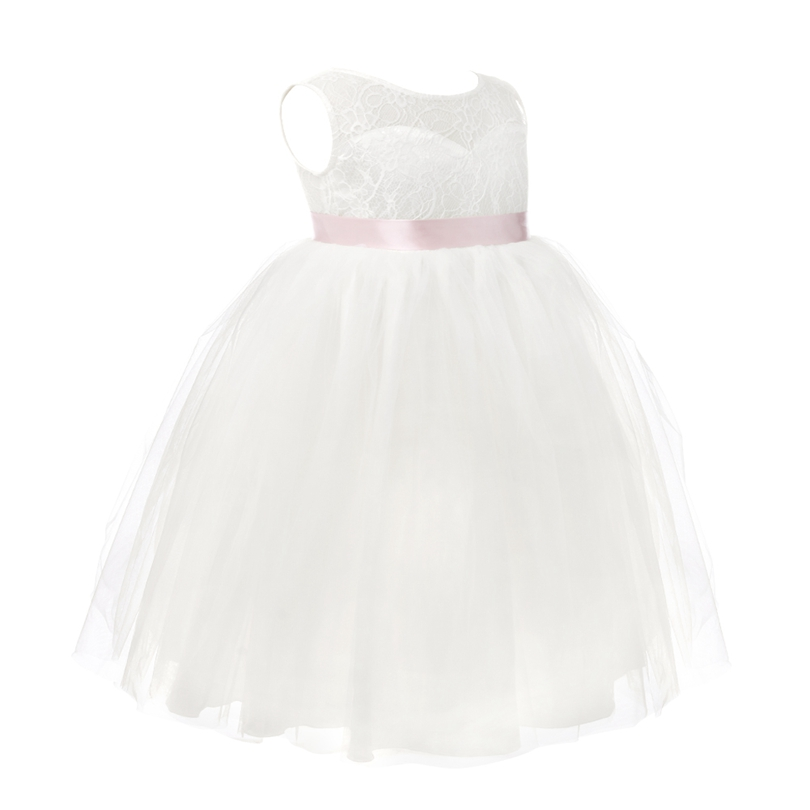 Image 4 - 2018 White First Communion Flower Girls Dresses Little Girls Real Party Dress for Wedding Kids Evening Party Pyrotechnics Gowns-in Flower Girl Dresses from Weddings & Events