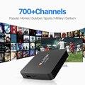 Android6.0 S905X Smart TV Box Amlogic 2.4 Ghz Wifi con 1/3/12 Meses Gratis IPTV Árabe Europa italia Francés Sky Canal de Suscripción
