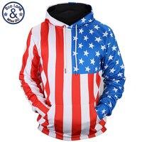 Mr BaoLong New Autumn Winter Men Women 3d Sweatshirts Digital Print American Flag Thin Style Casual