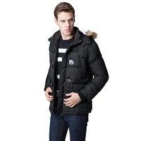 2019 Fashion Winter Jacket Male Parka Men Faux Fur Collar Hooded Thick Warm Outerwear Russian Warm Coat Manteau Homme Hiver