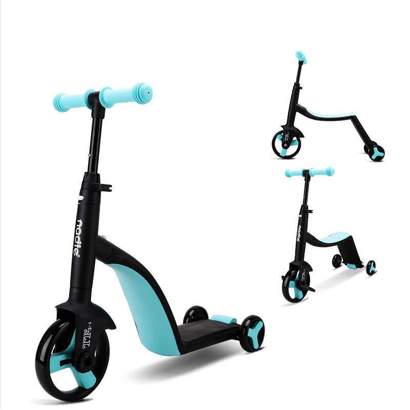 Nadle Kids Scooter nadle, triciclo, automobile del giocattolo, pieghevole, borsa da viaggio, adatto per i bambini sopra i 3 anni di età
