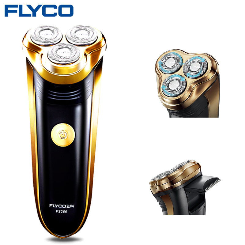 Flyco FS360 Gold Electric Shaving Machine for Men Washable 3D Floating Triple Blade Face Care Barbeador Eletrico Masculino RazorFlyco FS360 Gold Electric Shaving Machine for Men Washable 3D Floating Triple Blade Face Care Barbeador Eletrico Masculino Razor