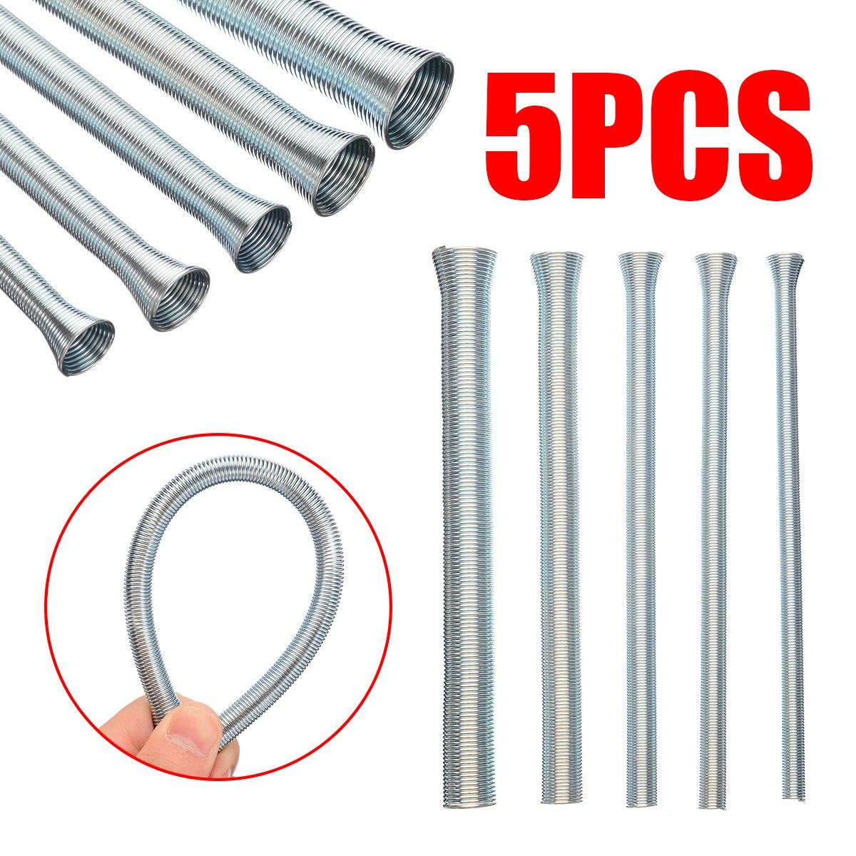 5pcs New CT-102-L Spring Pipe Bender 21cm Length Spring Tube Bender Sets 1/4