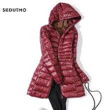 SEDUTMO Winter Ultra Light Long Womens Down Jackets Plus Size 7XL Duck