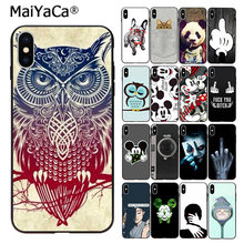 MaiYaCa Fashion Girl Animal phone cover For iphone 11 pro 66S 7 8 8Plus 5S XS SE X XR XS MAX Owl panda dog Mickey Mouse(China)