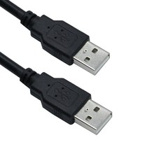 USB 2.0 Cable Type A Male to A Male Plug High Speed 480Mbps USB to USB Data Transfer Cable 1.5m for Computer Speaker Printers цена
