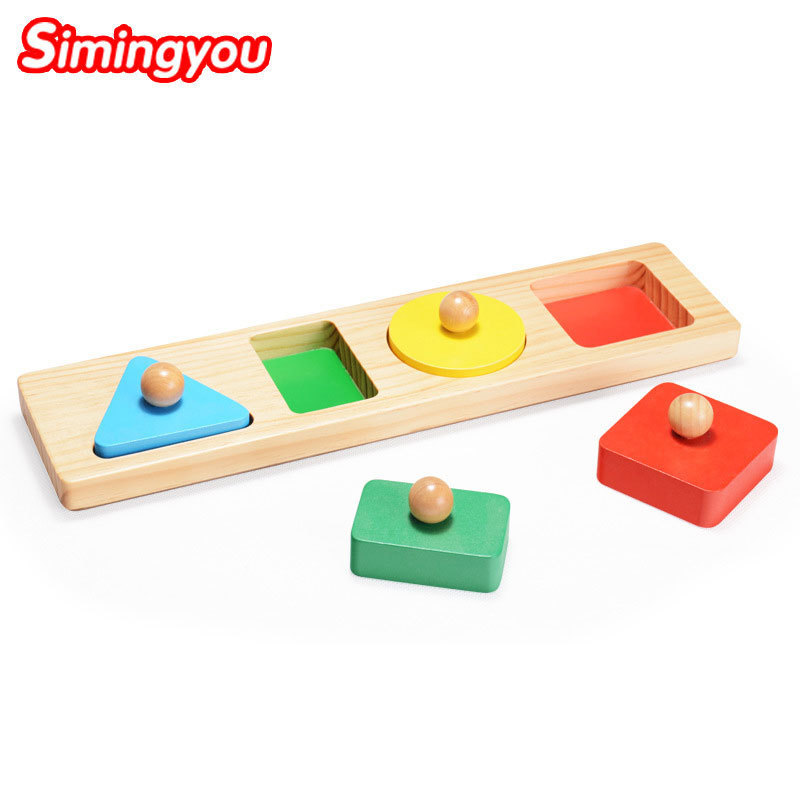 Simingyou Wooden Puzzle Geometric Shapes Shape Cognition Montessori Educational Children Toys B40-63 Drop Shipping jaheertoy montessori early childhood educational wooden toys geometric assembling blocks baby shape cognition teaching aid