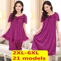 Бесплатная доставка Большой размер XXL XXXXL XXXL 5xl 6xl марка летний стиль пижамы женщины ночное продукты секса рубашки платье ночь