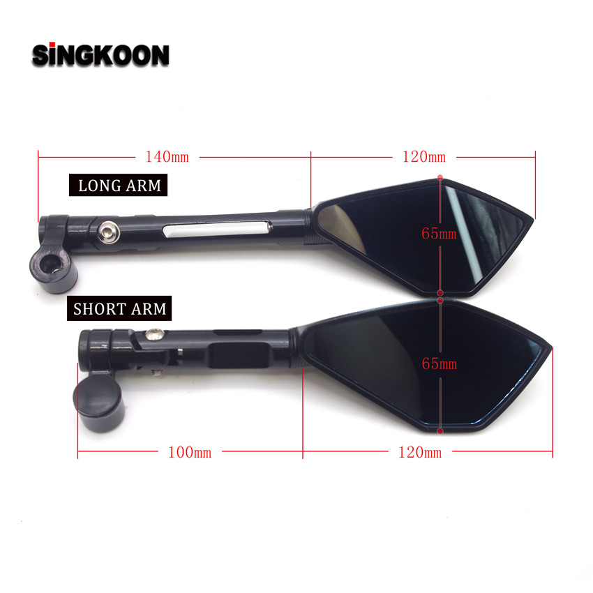 8 10mm universal cnc motorcycle mirrors Blue Lens Rearview Side Mirror FOR moto custom suzuki burgman 400 suzuki sv burgman 125 in Side Mirrors Accessories from Automobiles Motorcycles