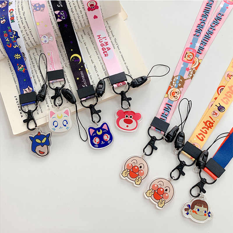 Cartoon Pattern Multi-function Mobile Phone Straps Rope Cute Strap Neck Lanyards For Airpods Case Hang Rope Strap For Keychain