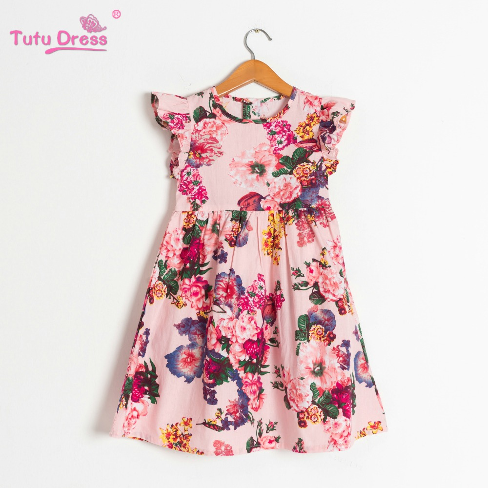Flower     Girl     Dress   Printed Cotton Sleeveless Party Pageant Summer   Dress   Kids   Girls   Cute Soft Cotton Clothes Baby   Girl     Dress   2019
