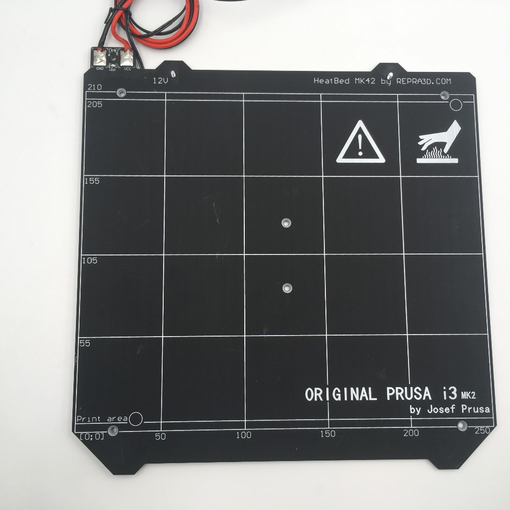 3d Printer Polyetherimide Build Surface 220 X 08mm Pei Sheet Circuit Board Processing Machine400400mm Buy Pcb Lead Cutting 12v Prusa I3 Mk2 Mk2s Upgraded Mk25 Heated Bed With Magnets