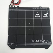 12V Prusa i3 mk2/mk2s upgraded mk2.5 PCB heated bed, with magnets, Spring sheet, 2PC PEI sheet(China)