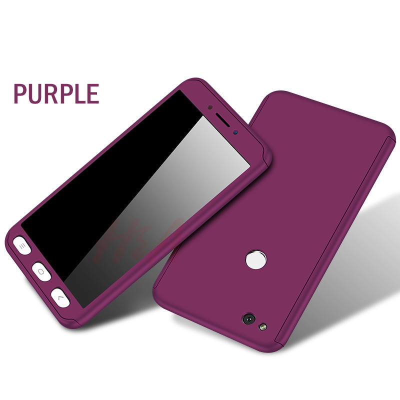 360 Degree Protection Full Cover Phone Case For Xiaomi Redmi Note 5A 5 Plus 4X 4A Shockproof Cover For Redmi 4X Case Glass