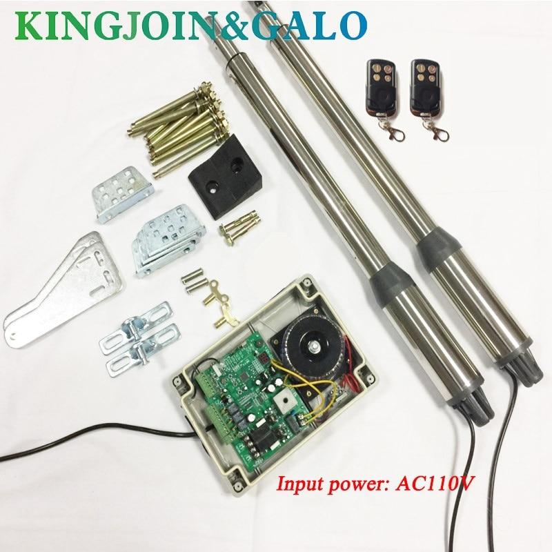 AC110V elektryczny siłownik liniowy 300kgs układ silnika silnika automatyczna brama przesuwna Opener + 2 zdalnego sterowania