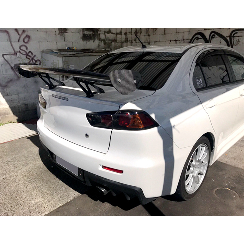 Universal Car-Styling Carbon Fiber Rear Trunk Spoiler GT Wing for Mitsubishi Lancer universal Sedan Spoiler car styling carbon fiber auto rear wing spoiler lip for vw scirocco 2010 2012
