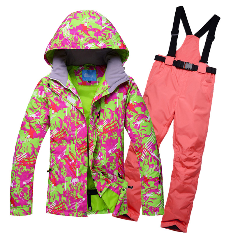 NEW Skiing Suits Jackets Pants Women Snowboarding Sets Female Winter Sportswear Snow Ski Jacket Breathable Waterproof Waterproof
