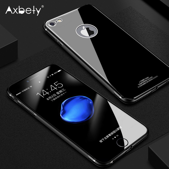 3105963bf2e Luxury Tempered Glass Case For iPhone 6 Ultra Slim Classic Back Cover For iPhone6  6s Plus Retro Soild Color Full Protection Case