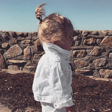 ANKRT New Spring Baby Girl Clothes Autumn Children Clothing Child Outerwear Coat Jackets Kids Tops Jeans white Wear Denim(China)