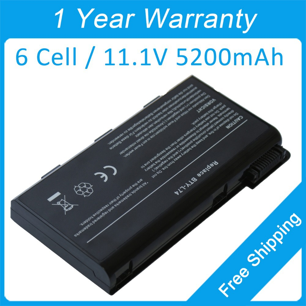 New laptop battery BTY-L74 for <font><b>msi</b></font> A7200 A7005 GE700 CX605X CX620X CX623X CX700X CX720X <font><b>CX620MX</b></font> CX705MX image