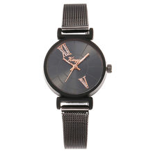 Design Wristwatch Reloj Mujer Women Watches Steel Mesh Belt Simple Style Black Sliver Slicon rologio Silicone relogio infatil #A(China)